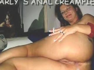 I fuck her hard and fast with a sex tool then I use my boner to split her booty