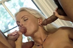 Blonde Silicone Tits Loves To Take Meat Hits