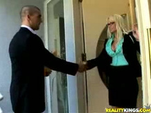 Blond Business Woman gets fucked