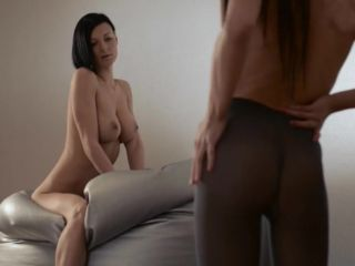 Young girl gets strap on fucked