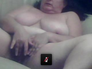 Fat woman masturbating in skype