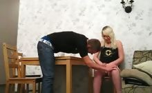 Blonde girl gets fucked