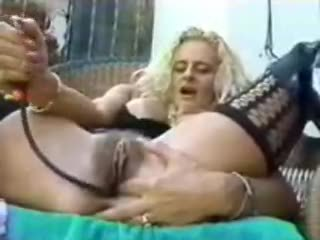 Big pumped dildo in the vagina