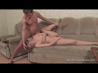 Cumshots on a passed out drunk mature