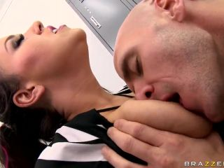 Hard tit squeeze from ugly Johnny Sins