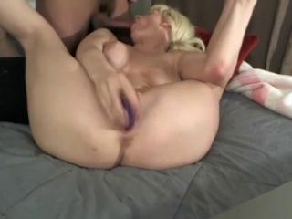 Naughty blonde gets fucked on webcam