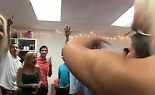Group of hot girls fucking on college