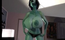 Large breasts and tittyfucking 3D