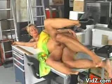 Horny Blonde Gets Fucked By The Mailman