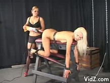 Blonde Gets Fucked On A Horse Stool