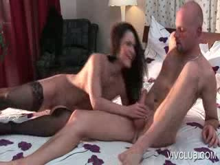 Hottie mouth and pussy fucking dick