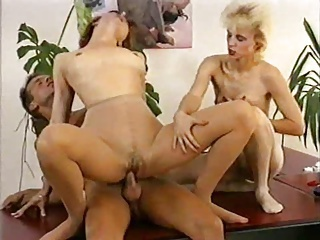 2 girls in Pantyhose are getting fucked