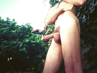 New Undies and a smoke in the garden.